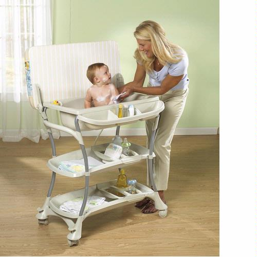 Primo 350W Euro Spa Baby Bath And Changing Table   White