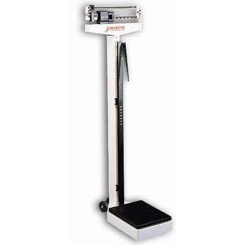 Detecto 2381 Mechanical Eye-Level Physician Scale 180 kg x 100 g With Wheels  and Height Rod