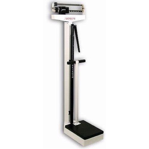 Detecto 2491 Mechanical Eye-Level Physician Scale With Height Rod and Handpost