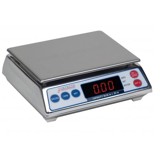 Detecto AP-8 Legal For Trade Digital Portion Control Scale ,7.998 lb x 0.002 lb
