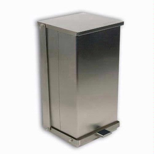 Detecto C-100 Stainless Steel Step-On Can Waste Receptacle 100 Quart (25 Gallon) Capacity