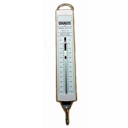 Ohaus 8261-MO Pull-Type Metric Spring Scale,100g x 1g