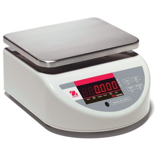 Ohaus BW1.5US Washdown Compact Bench Scale Legal for Trade, 3 lb x 0.001 lb