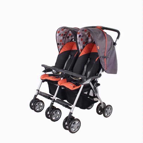 Combi 7242 15 Twin Sport Stroller Mandarin Free
