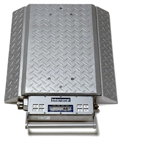 Intercomp PT300DW 100078-RFE (Double Wide) Wheel Load Scales with 868 MHz Wireless, 30000 x 50 lb