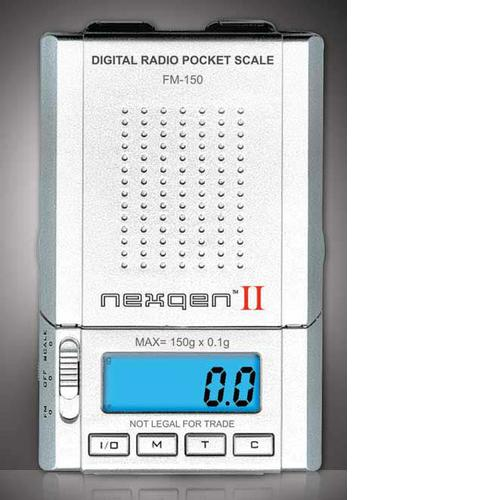 Gram Precision Nexqen FM150 Digital Pocket Scale with AM/FM Radio, 150g x 0.1g