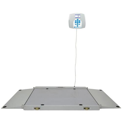 Health O Meter 2700KL Portable 43 x 42 inch Wheelchair Scale 1000 x 0.2 lb