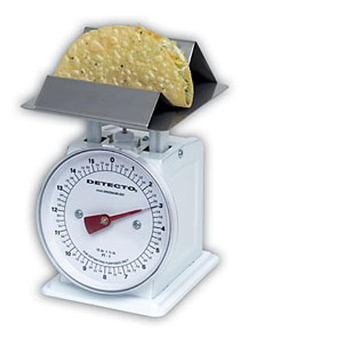 Detecto PT1-TF Taco/French Fry Scale, 16 oz x 1/4 oz