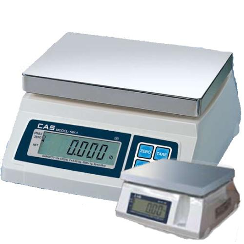 CAS SW-50-D Portable Digital Scale W Dual Display 50 lb x 0 02 lb Legal for Trade