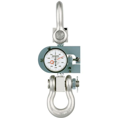 Dillon 30441-0053 X-ST Tension Force Gauge with Maximum Hand, 10000 x 100 lb