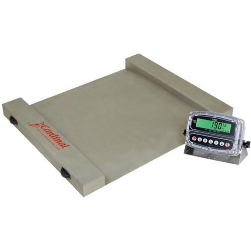 Detecto rw 1000s run a weigh stainless steel portable for 1000 lb floor scale