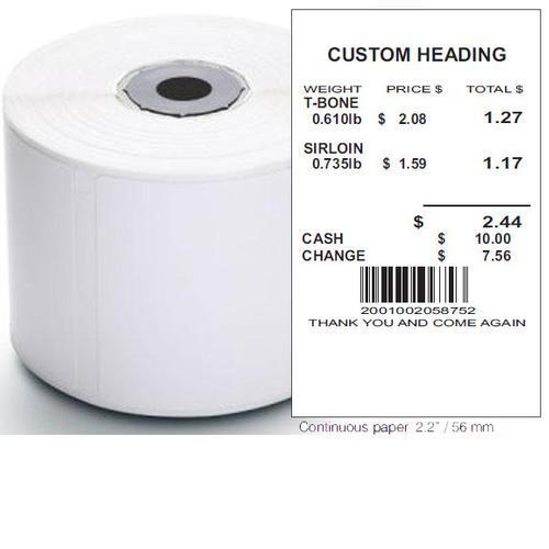 Torrey DT2LBLBLA10 58 x 62,865mm Continuous Strip Thermal labels 10 Rolls for DT2 Printer