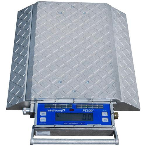 Intercomp 181508 - PT300DW  (Double Wide) Wheel Load Scales with Solar Panels, 20000 x 10 lb