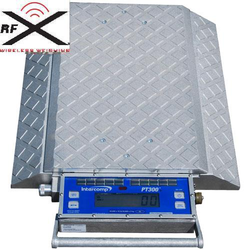 Intercomp 181506-RFX - PT300 W (Double Wide) Wheel Load Scales with Solar Panels, 5,000 x 5 lb