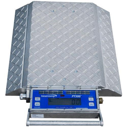 Intercomp 181503 - PT300DW  (Double Wide) Wheel Load Scales with Solar Panels  (20mA)  20000 x 20 lb