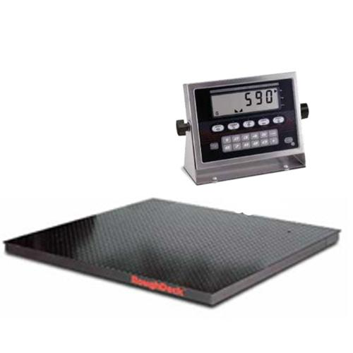 Rice lake 53420 roughdeck floor scale 4 x 4 legal for for 10000 lb floor scale