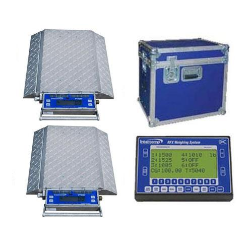 Intercomp 181502-RFX-K2 PT-300DW Double-Wide Solar-Powered Wheel Load Scale 80,000 x 100 lb