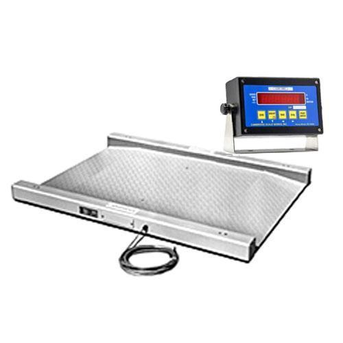 Cambridge 670230301K Model 670-2 Series Legal For Trade Weigher Scale Built In Single Ramp 30 x 30 x 1.5 / 1000 x 0.2 With Indicator