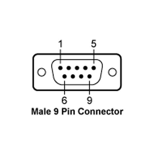 Minebea YCC02-D09M6 - 9-Pin D-Sub Male Connector, 6m Connecting Cable