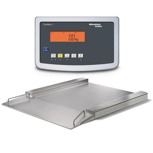 Minebea IFP4-1000GGK IF Painted Steel Combics 1 Flat-Bed Scale With Indicator 23.6 x 23.6, 2200 x 0.1 lb