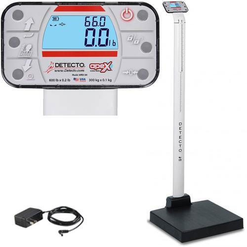 Detecto APEX-SH-AC Physician Scale With Sonar Height Rod and AC adapter 600 x 0.2 lb