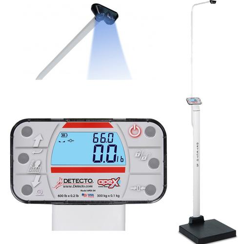 Detecto APEX-SH-LXI-AC Physician Scale With Sonar Height Rod AC adapter and Welch Allyn LXI  600 x 0.2 lb