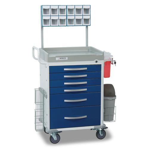 Detecto RC333369BLU-L Rescue Emergency Room Carts 6 Drawers (Blue)