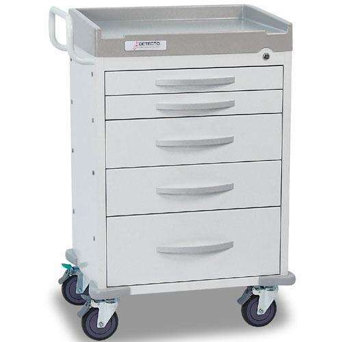 Detecto RC33669WHT Rescue Emergency Room Carts 5 Drawers (White)