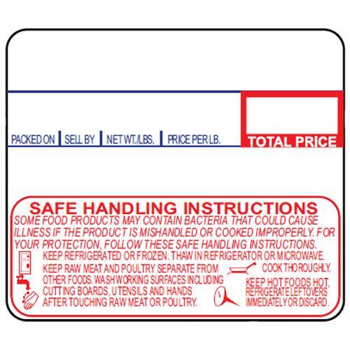 Detecto 12 Rolls Of Die Cut 6600 3003 Safe Handling Upc Labels For