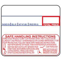 Detecto 12 Rolls of Die-Cut 6600-3003 Safe Handling UPC Labels for DL1030/DL1030P/DL1060/DL1060P Printing Scale