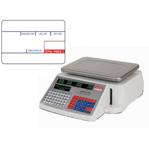 Detecto DL1030 NTEP Price Scale, 30 lb x 0 01 lb w/ 12 rolls die-cut  6600-3001 UPC Labels