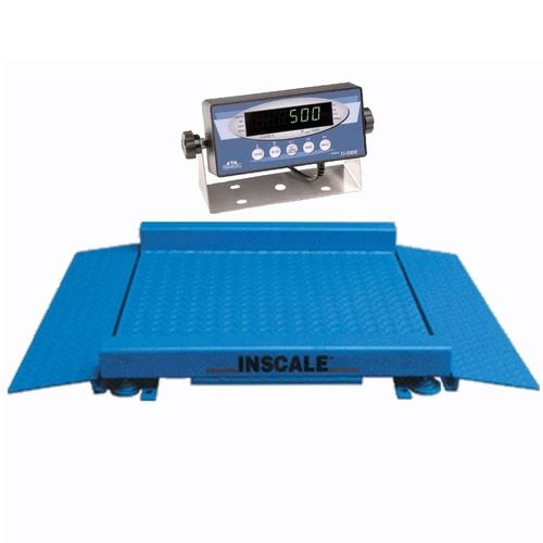 Inscale 55-2 Legal for Trade 5 x 5 ft Drum Scale, 2000 lb x 0.5 lb