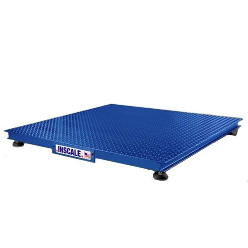 Inscale 44-5 Low Profile 4 x 4 Legal for Trade Floor Scale,, 5000 lb x 1 lb