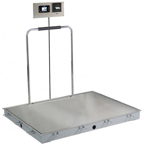 Detecto SOLACE Series ID-3636SH-855RMP 3 x 3 ft In-Floor Dialysis Scale with Handrail 1000 x 0.2 lb