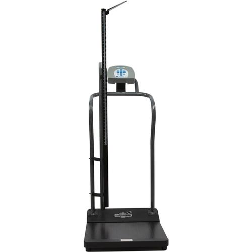 Health-O-Meter 3001KL-AMHR Antimicrobial Digital Platform Scale with Height Rod 1000 x 0.2 lb