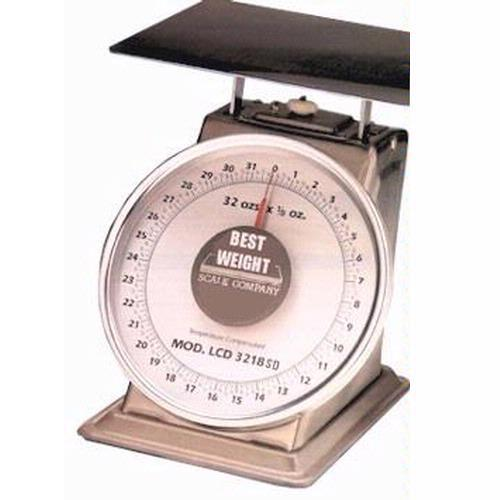 Best Weight B-2 Mechanical Dial Scale, 32 oz x 1/8 oz
