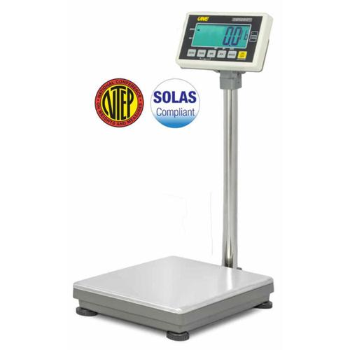 UWE UFM-B60 (3-UFM-S605-112)  Stainless Steel  13 x 17.7 Inch Legal for Trade Bench Scale 150 x 0.05 lb