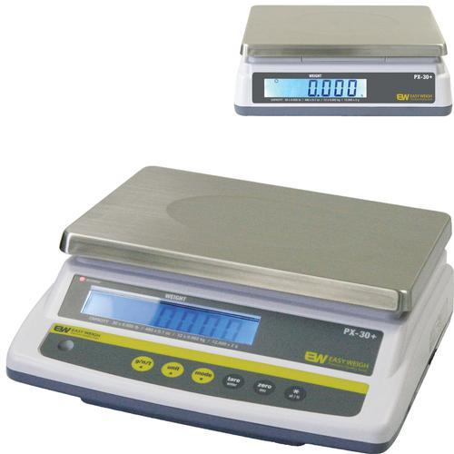 Easy Weigh PX-30-DR+ Legal for Trade Dual Display Scale, 30 x 0.005 lb