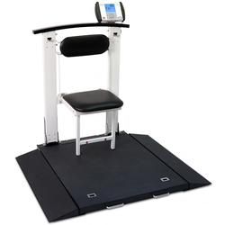 Detecto medical scale - Sturdy, yet lightweight, the Detecto 6550 portable wheelchair scales folds up for easy transport.