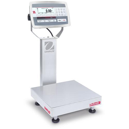 Ohaus D52XW25RQR1 Defender 5000 Stainless Steel 12 x 12 in Bench Scale 50 x 0.002 lb and Legal for Trade 50 x 0.01 lb