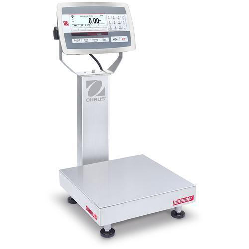 Ohaus D52XW50RQR1 Defender 5000 Stainless Steel 12 x 12 in Bench Scale 100 x 0.005 lb and Legal for Trade 100 x 0.02 lb