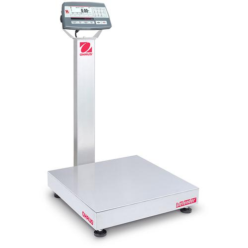 Ohaus D52XW50RQL2 Defender 5000 Stainless Steel 18 x 18 in Bench Scale 100 x 0.005 lb and Legal for Trade 100 x 0.02 lb