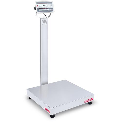 Ohaus D52XW125RQV3 Defender 5000 Stainless Steel 24 x 24  in Bench Scale 250 x 0.01 lb and Legal for Trade 250 x 0.05 lb