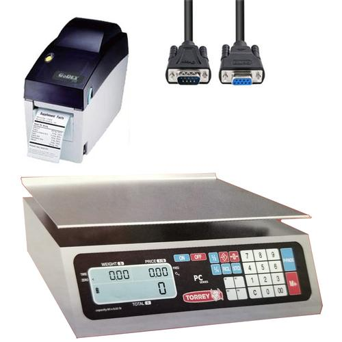 TorRey PC-40L-HS-PRINT Legal for Trade Price Computing Scale with Printer and Cable 40 x 0.01 lb