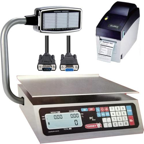 TorRey PC-40LT_PRINT Legal for Trade Price Computing Scale with Printer and Cable 40 lb x 0.01 lb