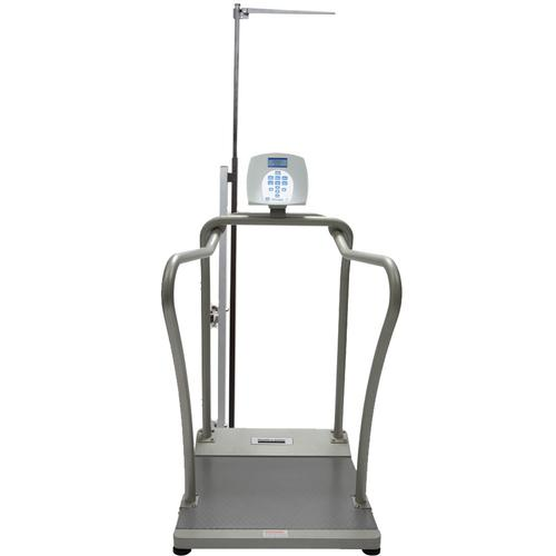 Health O Meter 2101KGHR-BT Digital Handrail Scale with Height Rod Included and Built-in Pelstar Wireless Technology KG Only 454 x 0.1 kg