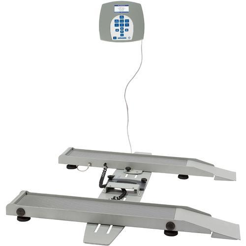 Health O Meter 2400KL-BT Portable Digital Wheelchair Scale with Built-in Pelstar Wireless Technology 800 lb x 0.2 lb