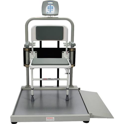 Health O Meter 2500CKL-BT Digital Wheelchair Scale with Fold Away Seat and Built-in Pelstar Wireless Technology 1000 lb x 0.2 lb