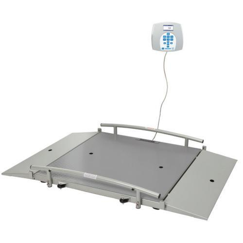 Health O Meter 2650KL-BT Portable 31.5 x 31.5 inch Wheelchair Scale Dual Ramp with Built-in Pelstar Wireless Technology 1000 x 0.2 lb