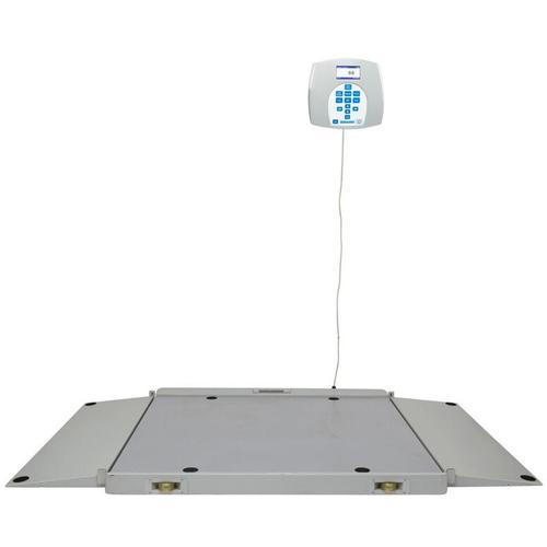 Health O Meter 2700KL-BT Portable 43 x 42 inch Wheelchair Scale with  Built-in Pelstar Wireless Technology 1000 x 0.2 lb